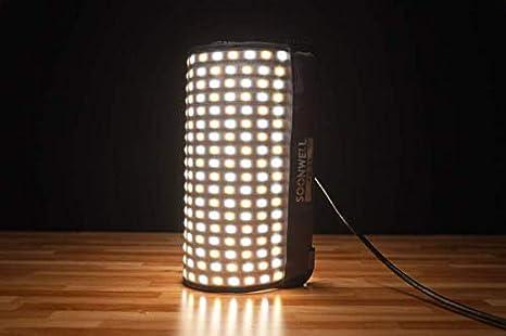SOONWELL 50W Luz LED Flexible y Curvable Kit Foco Iluminaci/ón Fotograf/ía 3000K-5600K Panel Profesional de Luz LED Bicolor con Rejilla Nido de Abeja y Softbox Luz de Iluminaci/ón Continua 1 * 1 pie.