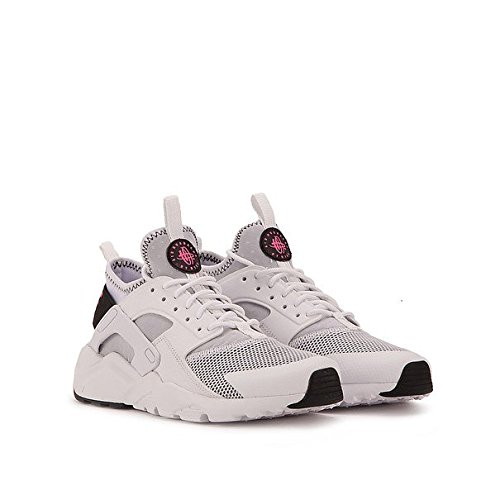 NIKE Air Huarache Run Ultra 847568-100 White/Black/Pink Blast (4Y) by NIKE