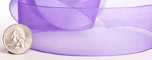 25 Yard Spool of Elegant Light and Sheer Purple Organza Ribbon- 1.5'' Wide