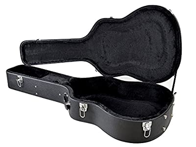 YMC HardCase-Dreadnought-BK Acoustic Guitar Hardshell Carrying Case with Lock Latch