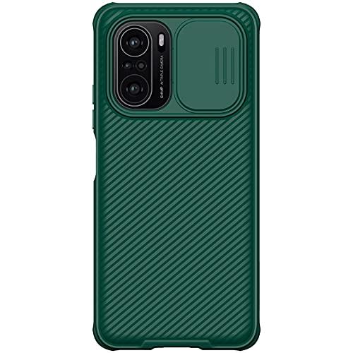 Nillkin Case for Xiaomi Mi 11X 11 X / 11X Pro/Poco F3 (6.67″ Inch) CamShield Pro Slider Camera Close & Open Double Layered Protection TPU + PC Dark Green Color