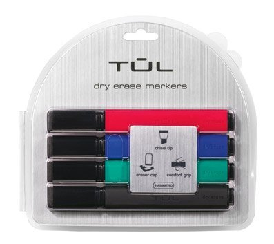 Tul De3 Dry Erase 4 Pack Chisel Assorted Ink Amazon In