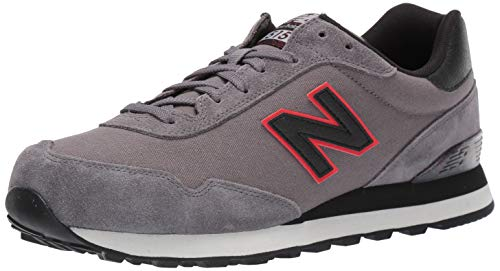 New Balance Men's 515v1 Sneaker, Castlerock/Black, 8 M US