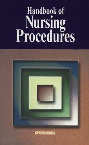 Handbook of Nursing Procedures