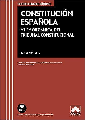 Constitución Española y Ley Orgánica del Tribunal Constitucional ...