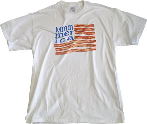 Ann Arbor T-Shirt Co. Men's Mmmerica Bacon Flag T-Shirt