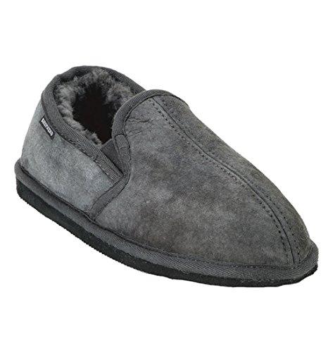 Bosse pastore doppio tassello asfalto Slipper in pelle di pecora