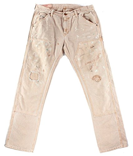 RALPH LAUREN Denim & Supply Men's Splattered Straight Jeans (Fowler, 33W x 32L) by RALPH LAUREN