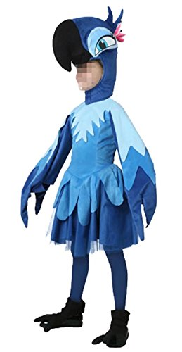 Ameyda Little Girls Kids Cute Halloween Cosplay Animal Parrot (Parrot Halloween Costumes Child)