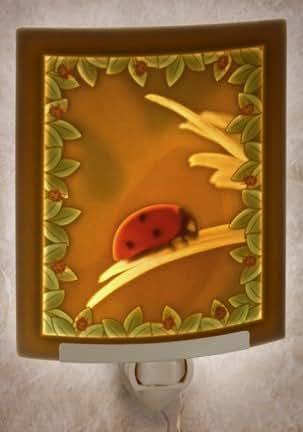 Ladybug Curved Color Porcelain Lithophane Night Light