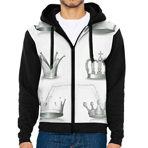 (3D Printed Hoodie Sweatshirts,Imperial Theme Vintage Symbol,Hoodie Casual Pocket Sweatshirt )