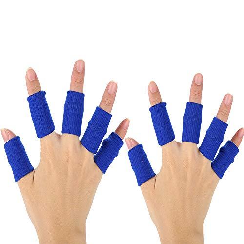 XDSP Protector elástico para Dedos, Protector de Dedos, Protector Elástico Vendas Bandas Finger Guard para Baloncesto Voleibol Bádminton