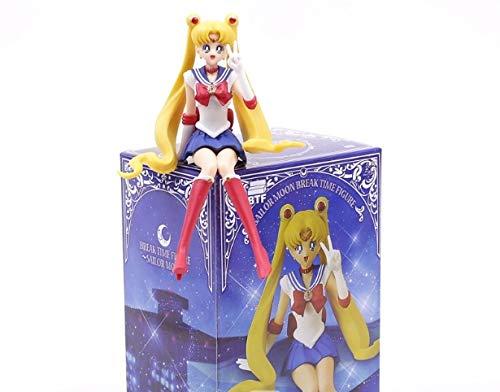 Allegro Huyer Sailor Moon Figures Toys Sailor Moon/Jupiter/Venus/Mar/Mercury PVC Figures Dolls Cup Deco with Box (Sailor Moon)