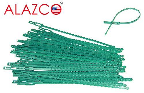 ALAZCO 60 pc Adjustable Plant Ties 8.5