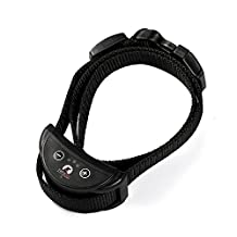 2017 MODEL Paipaitek PD-258 Rechargeable Automatic Dog Anti Bark No Barking Training Collar with Static & Warning Sound - With 5 Adjustable Sensitivity Levels - SIZE S for small to medium dog