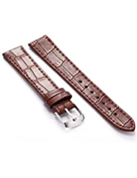 KS 18mm Military Brown Leather Mens Replacement Watch Band Straps WB1807