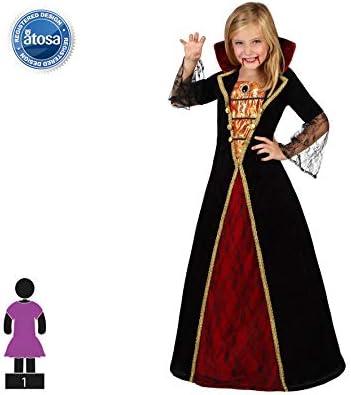 Atosa-22759 Disfraz Vampiresa, Color Negro, 7 a 9 años (22759 ...