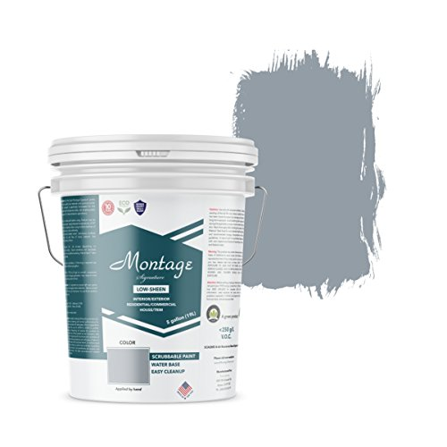 Montage Signature Interior/Exterior Eco-Friendly Paint, Blue Bayou - Low Sheen, 5 Gallon