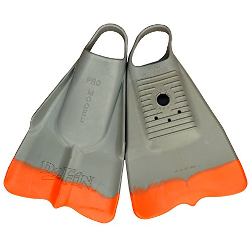 DaFin Swim Fins All Colors and Sizes (Gray / Orange, Large (11-12))