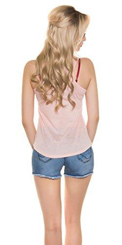 KouCla - Camiseta sin mangas - para mujer Rosa