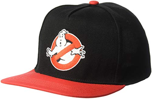 Ghostbusters Men's Embroidered Baseball Cap, Adjustable, Red, One Size