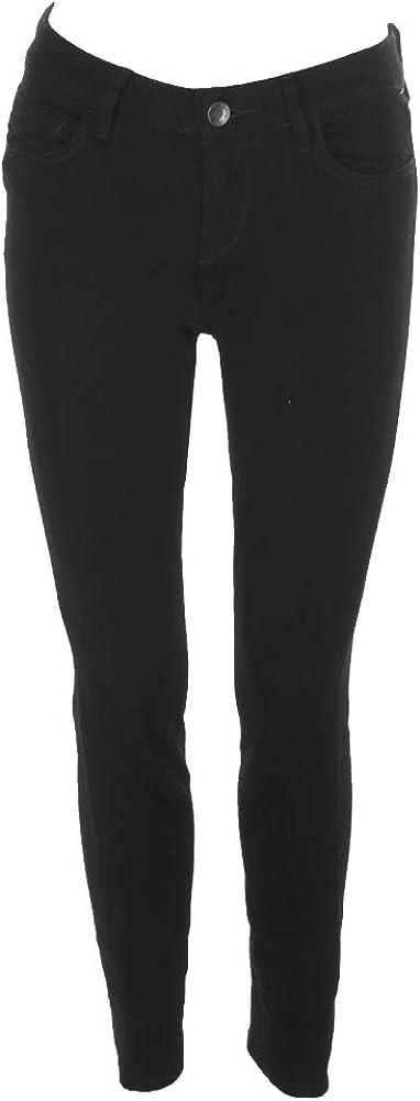 RACHEL Rachel Roy Womens Icon Denim Mid Rise Colored Skinny Jeans Black 25