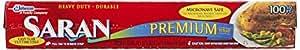 Saran Premium Plastic Wrap, 100 Sq Ft