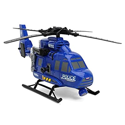 Tonka Funrise Toy Mighty Motorized Police Helicopter: Toys & Games