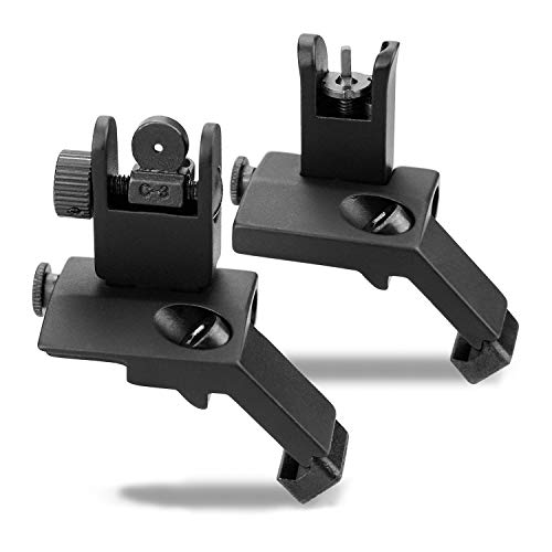 KINBON 45 Degree Offset Sights Set, Offset 45 Degree Flip Up Rapid Transition Backup