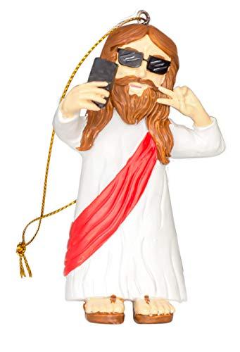 Costume Agent Assorted Funny Christmas Tree Ornaments Decoration Jesus Selfie