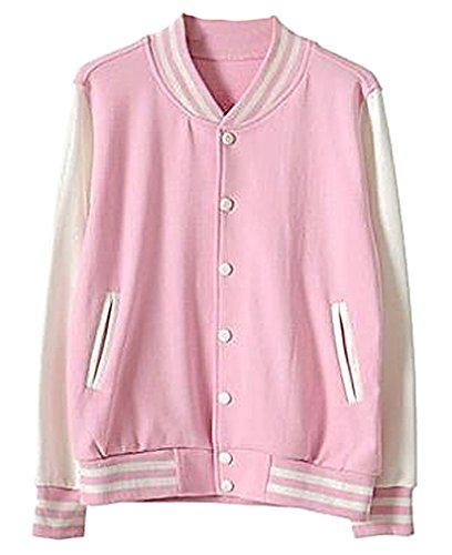 Pink Baseball Jacket - 2