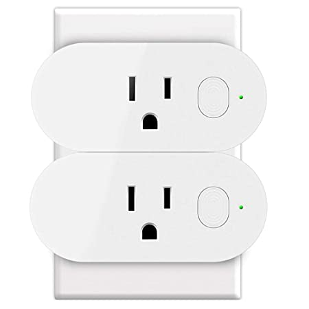 WiFi Smart Plug, GOXMGO Wireless Mini Wifi Outlet with Timing Function On Off Light Switch, Remote Control Smart Socket Works with Amazon Alexa Google Assistant, No Hub Required, 16A Output 2 Pack