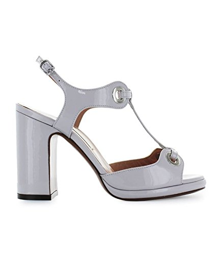 61b8ebcfae0 L Autre Chose Women s Shoes Light Grey Patent Leather Sandal Spring Summer  2018