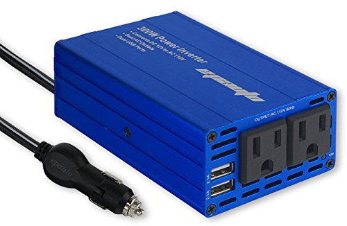 EPAuto 300W Car Power Inverter DC 12V to 110V AC Converter with Dual USB Charger ()