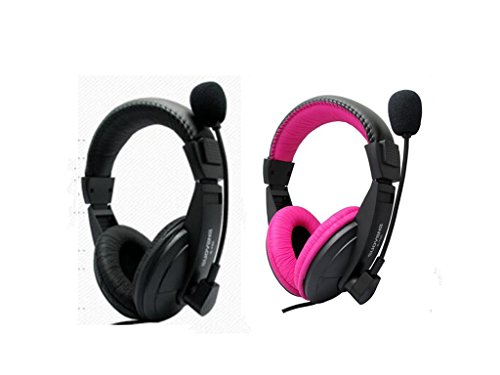 wBest 2 Pack Professional Over Ear Noise Cancelling Stereo Headset with Microphone Computer PC Gaming Stereo Skype