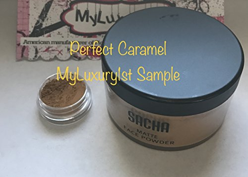 3g Jar of the Sacha Perfect Caramel Setting Powder a 3 Gram Sample for you to try Finishing Pigment Highlight Powder (No 7 Translucent Perfect Light Loose Setting Powder)