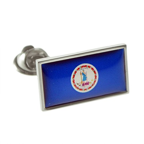 Virginia Flag Lapel Pin - USA American VIRGINIA State Flag Lapel Pin Badge