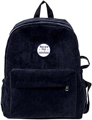670e6c64c605 Sunbona (TM) Schoolbag Women's Girls Preppy Corduroy Shoulder ...