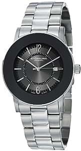 Stuhrling Original Men's 959G.33111 Classic Ascot Paramount Swiss Quartz Ultra Slim Date Black Bezel Watch