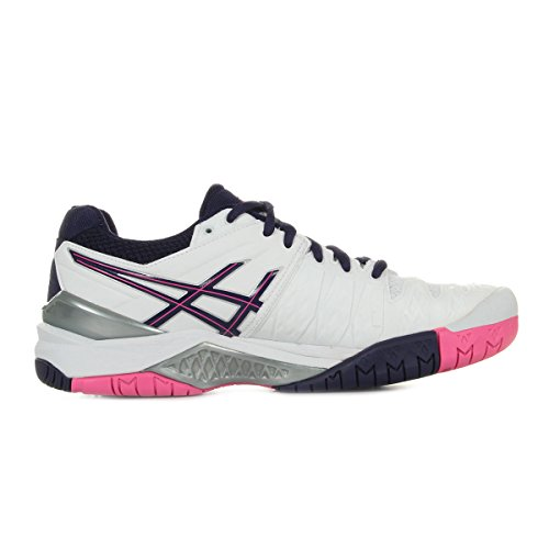 Asics Gel-Resolution 6 W, Chaussures de Tennis Femme, Violet Blanc