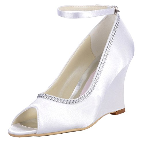 Heel Pumps 9cm MINITOO white Damen Sandals 5OXXYq