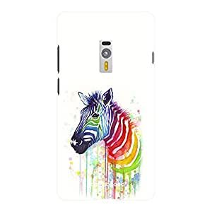 HomeSoGood Colorful Zebra White 3D Mobile Case For OnePlus 2 (Back Cover)