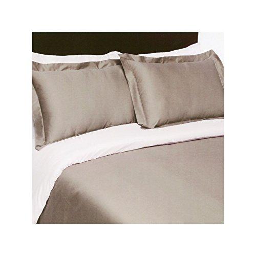 Couleur Blanc-Blanc Drap House Housse de Couette Satin 240x260