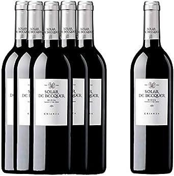 Vino Rioja Solar de Bécquer crianza (pack 5 botellas + 1 gratis ...