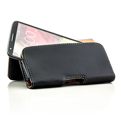 "Saxonia Universal Gürteltasche schwarz für Handy und Smartphone z.B für Apple iPhone 6 (4,7"") / Nokia Lumia 930 / Blackberry Z10 / Sony Xperia / LG Optimus / Google Nexus 4 / Motorola Razr Maxx Moto G"