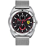 Ferrari Men's Forza Quartz Stainless Steel and Bracelet Casual Watch, Color: Silver (Model: 830637)