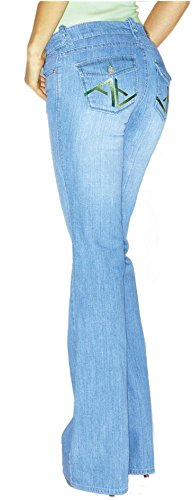 Apart - Vaqueros - Pantalones Boot Cut - opaco - para mujer Azul Claro