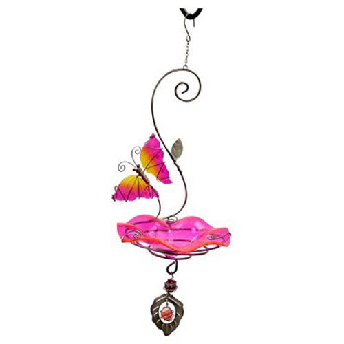 Cheap Heath Outdoor Products 21523 Butterfly Bliss Bird Feeder or Bath, Pink