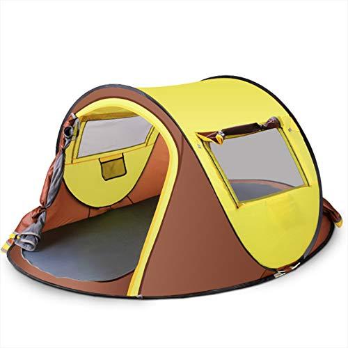 走るハンカチ疑い者テントの自動テントのシングルレイヤー3-4人のフィールドの肥大化大容量の光の魚の耐性UV高速オープニング課金キャンプアウトドア用品,A