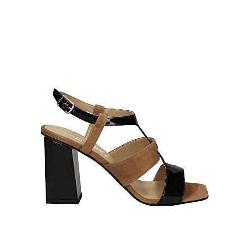Cafènoir donna MULTI pelle sandalo NERO LE521 Scarpa tacco vwtpYwqd